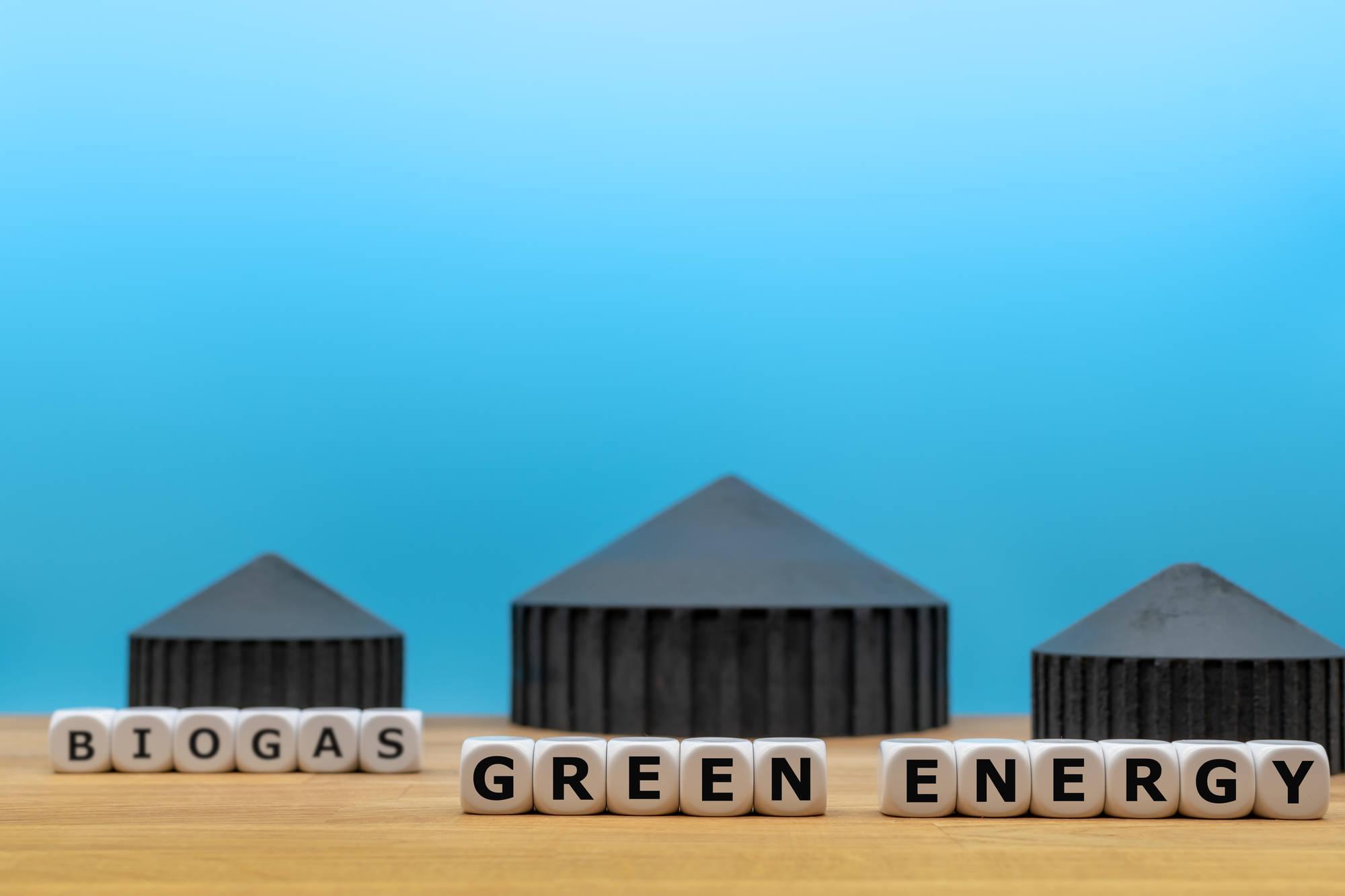 Biogas green energy, energia sostenibile dai materiali di scarto